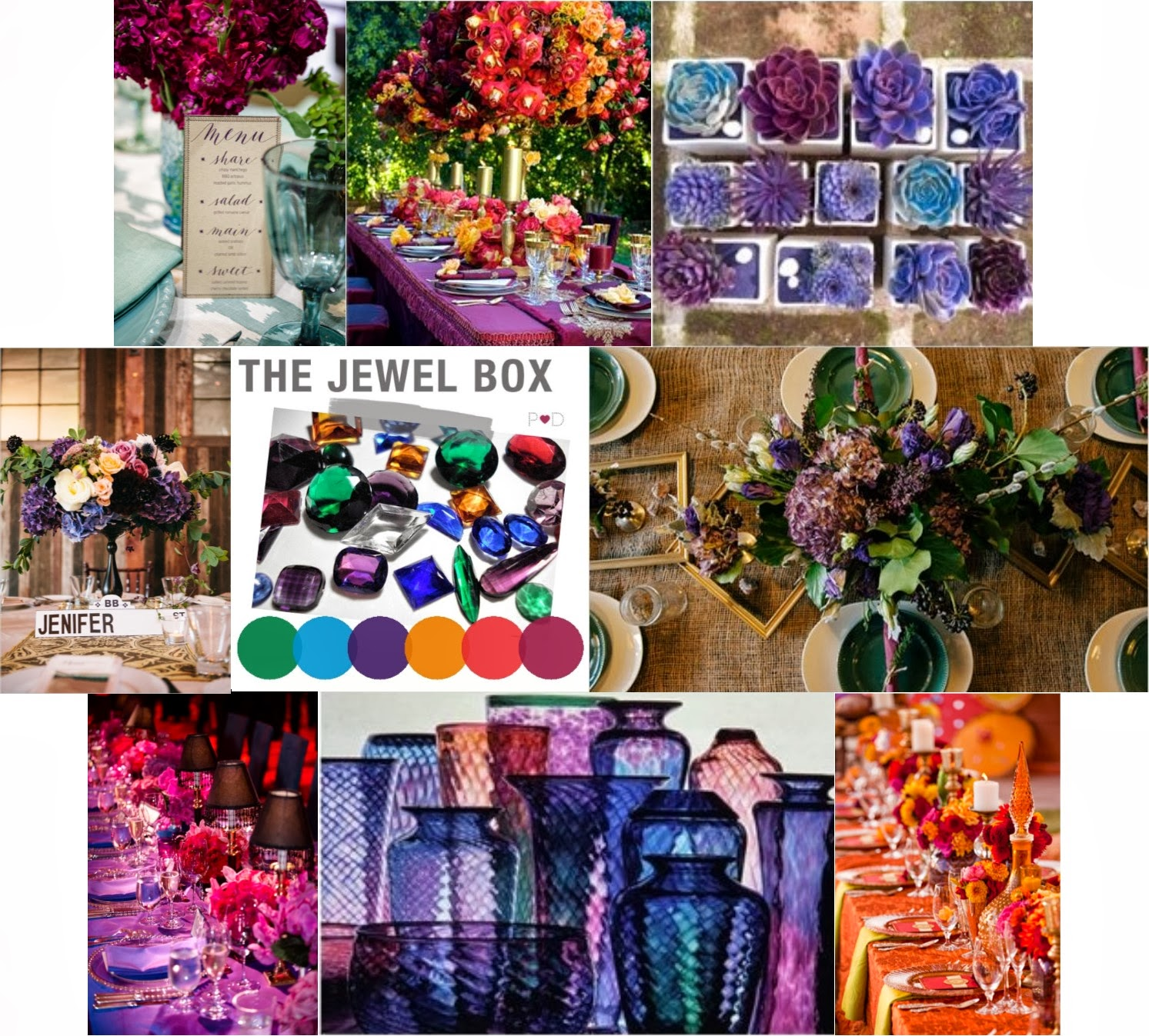 Design Jewel Tones fly me to the moon trend alert jewel toned color palette deep beautiful tones make for a striking reception