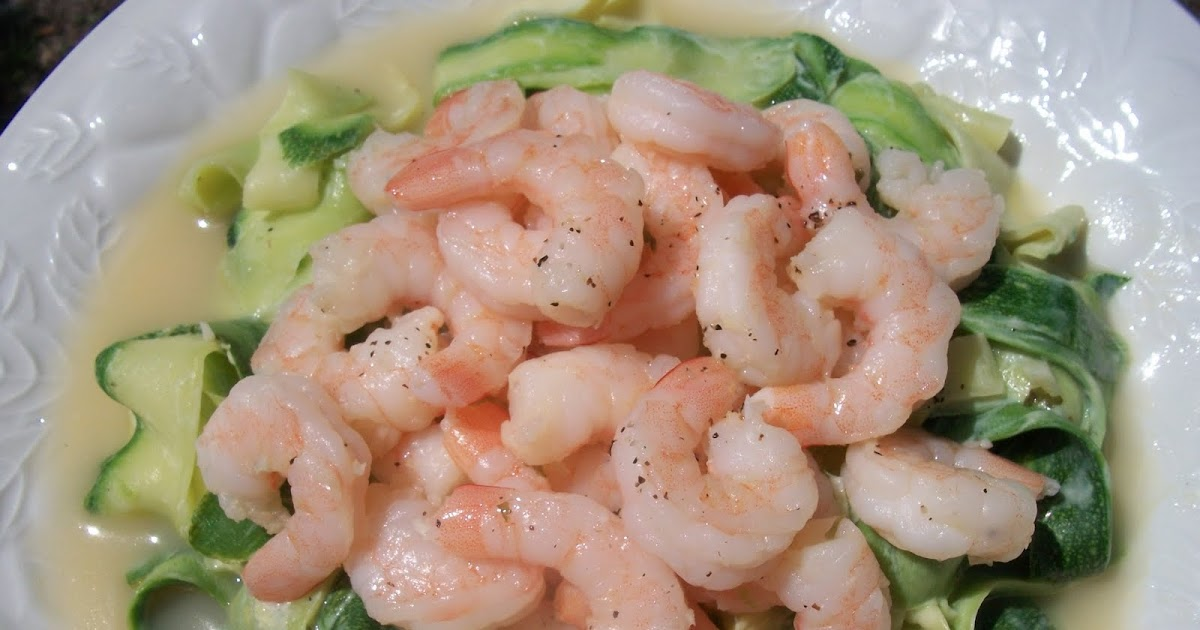 Shrimp Scampi with Zucchini Ribbons | Sandy's Kitchen