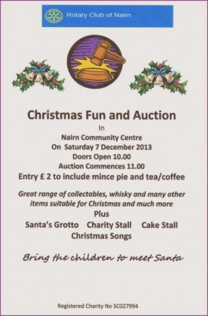 Christmas auction 7th December