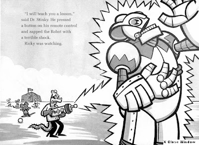 Booksforkids-reviews.com excerpt from Ricky Ricotta's Mighty Robot by Dav Pilkey
