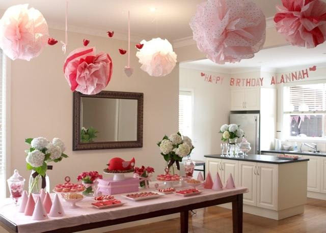 Украшение комнаты на день рождения мамы