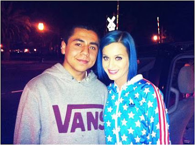 Katy Perry Hairstyle 2012 - Blue Hair