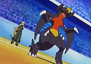 Garchomp And pokemon champion Cynthia