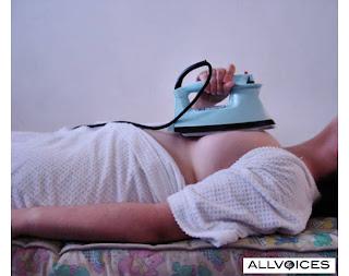 ironing breasts