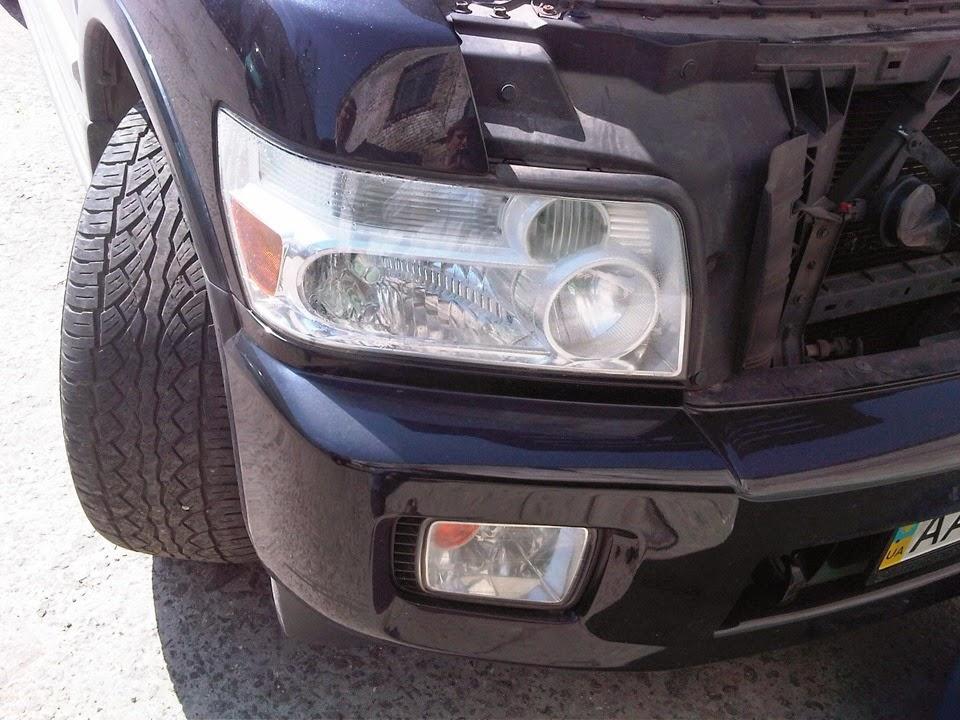 Замена лампы ближнего света qx80 Замена рулевой машинки хонда одиссей