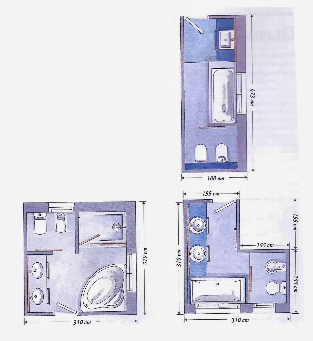 Muebles De Baño Karol:plantas de baños con todos los elementos la distribución de
