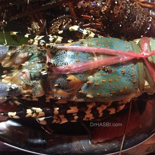 Makan lobster king dan seafood di Pasar Filipino Sabah