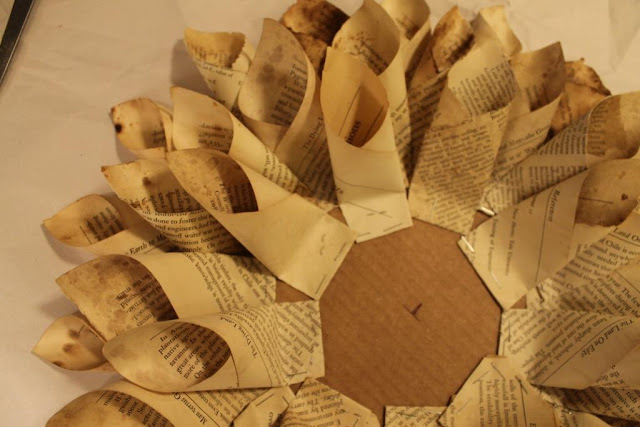 old paper wreath
