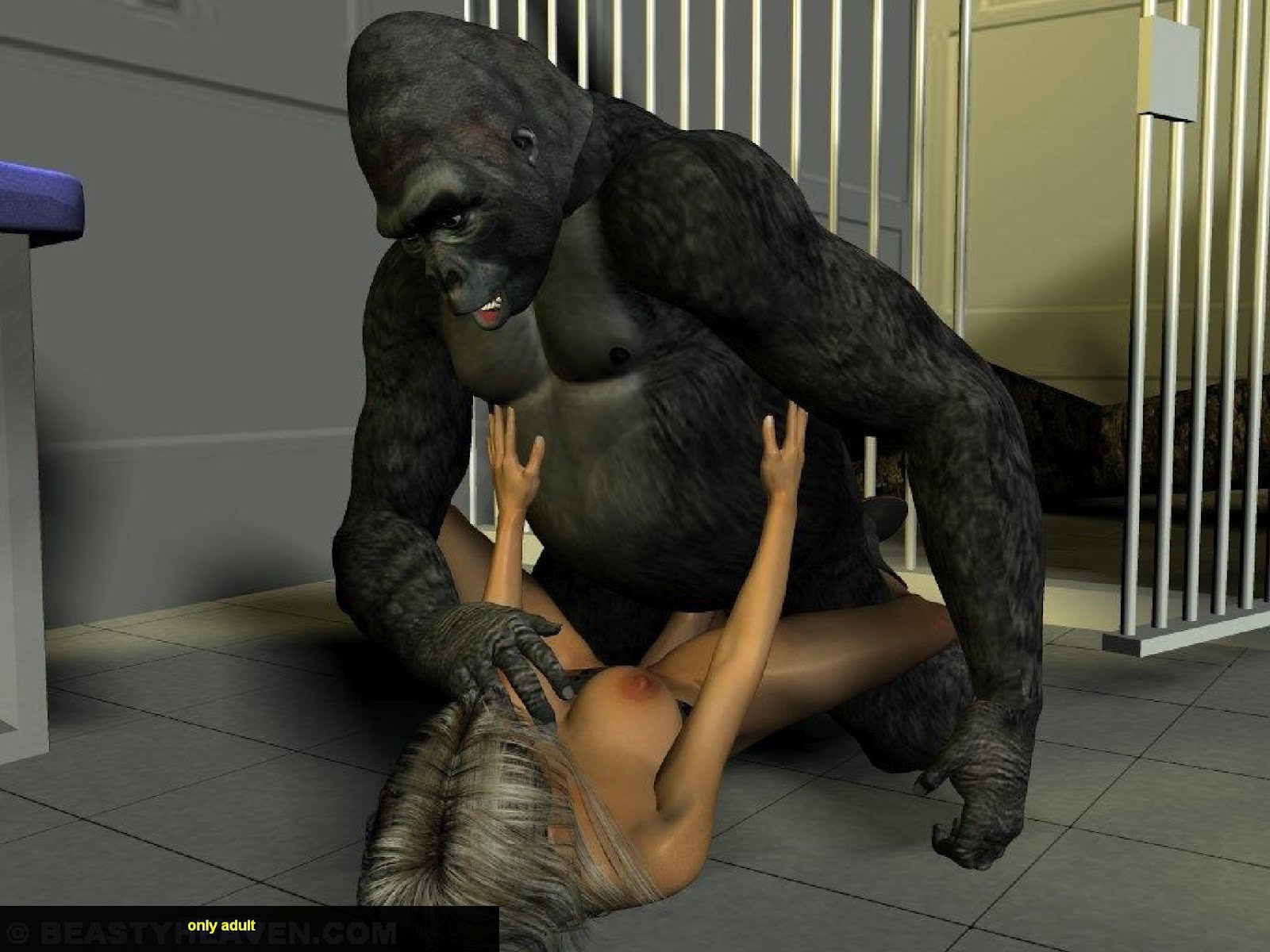 gorilla and girl sex movie