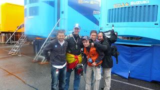 equipo de TVE en sachsenring 2010