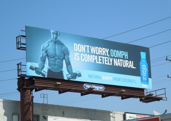 Zico Oomph bodybuilder billboard