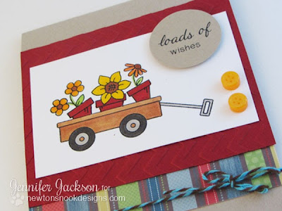 Wagon of Wishes Flower Pot Card