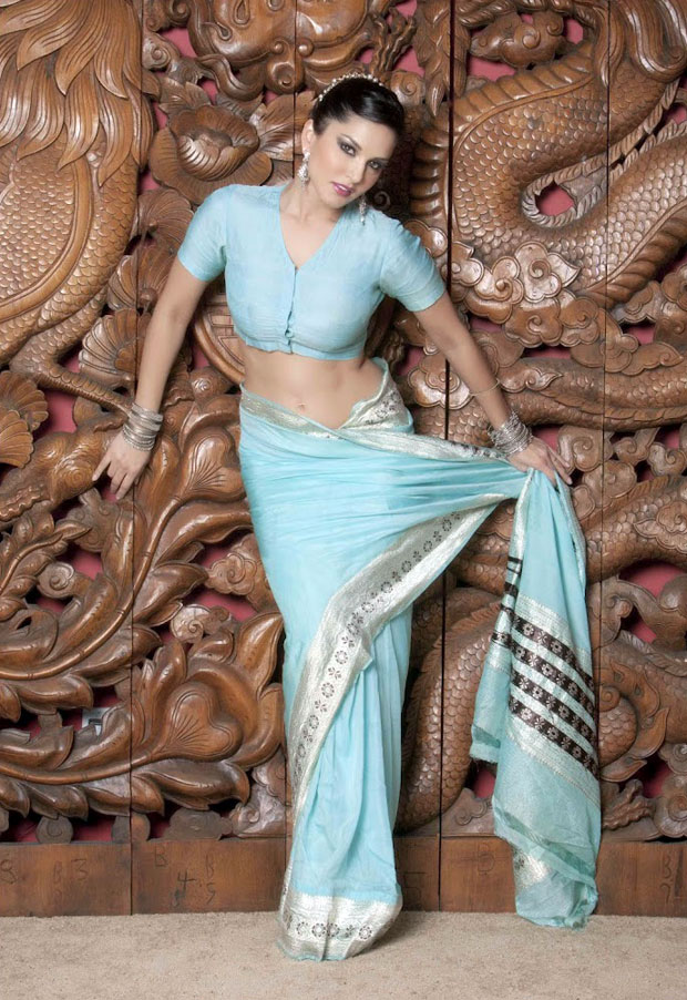 Sunny Leone Saree Photos Awesome Pics