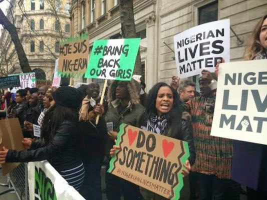 Baga: Nigerians In The UK Hold Solidarity Protest