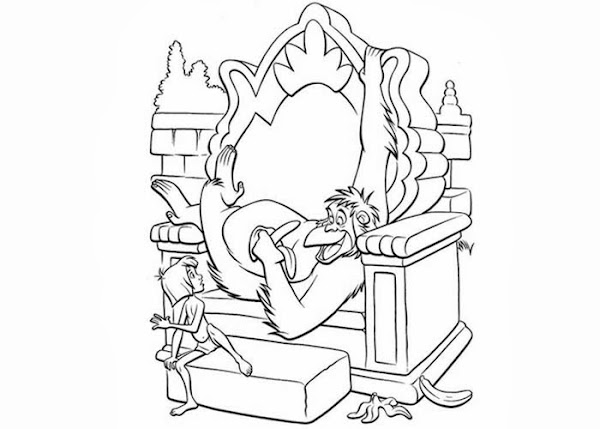 Baloo jungle book coloring pages for Jungle book coloring pages for kids