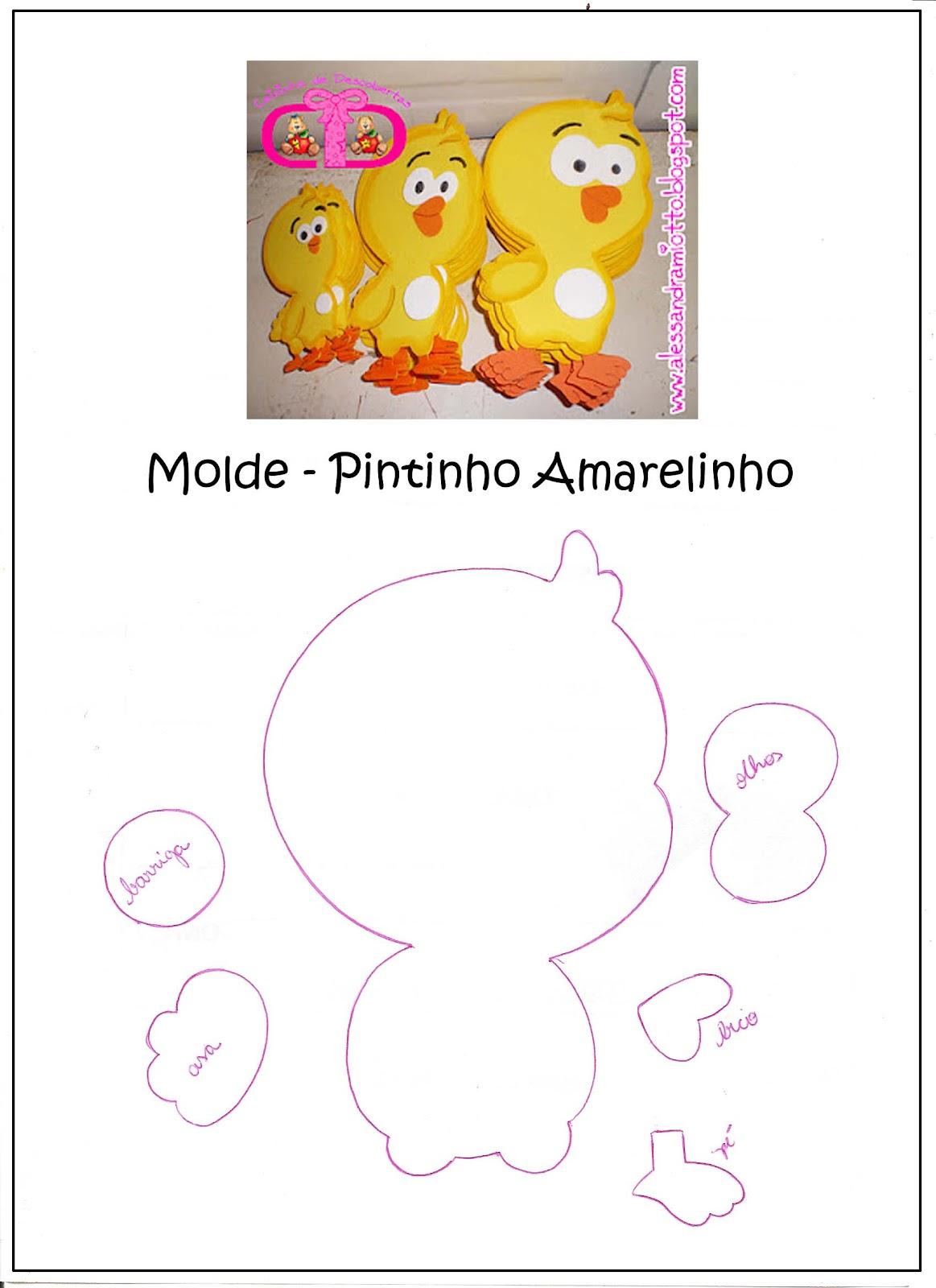 Art em Feltro e Moldes.: Turma da Galinha Pintadinha.