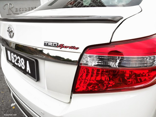 There's no mistaking the Toyota Vios TRD Sportivo with its red emblem