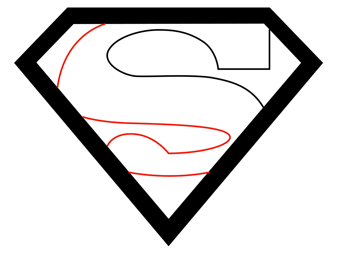 How to draw superman logo for Super easy drawings