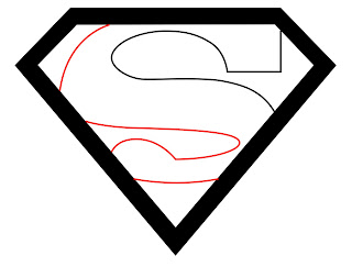 How To Draw Superman Logo Step 4