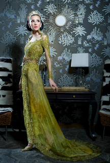 Contoh Model Gaun Kebaya Modern untuk Pernikahan