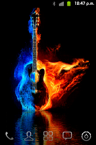 Fire Guitar Live Wallpaper