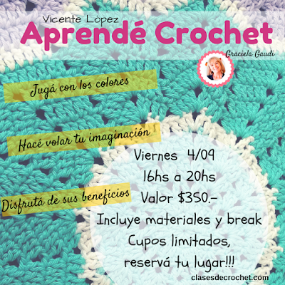 crochet, puntos base crochet, tejido crochet, graciela gaudi