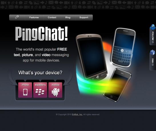 تحميل برنامج المحادثة pingchat  touch أندروند
