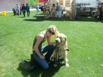 Ashley Carroll with Golden Lab Cross Medford