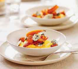 ... Food Recipes and Cooking: Soft Polenta With Pumpkin and Blue Cheese