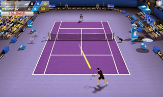 Screenshots of the Tennis 3D for Android tablet, phone.