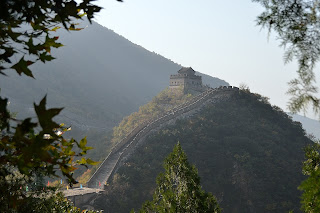 Xiangshuihu section of the Great Wall as seen from the Great Wall at Lianyunling