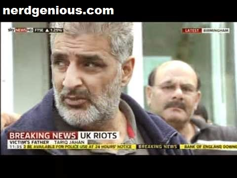 Tariq Jahan after the murder of son Haroon Jahan during Birmingham riot of 2011