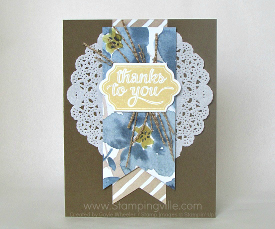Photo image of Happy Notes Thank You card.