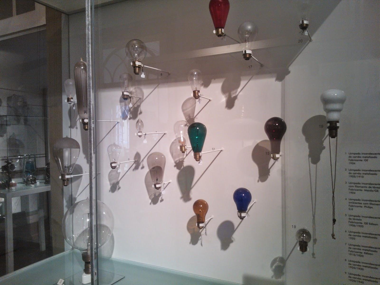 lâmpadas incandescentes - Museu da Energia, Itu-SP