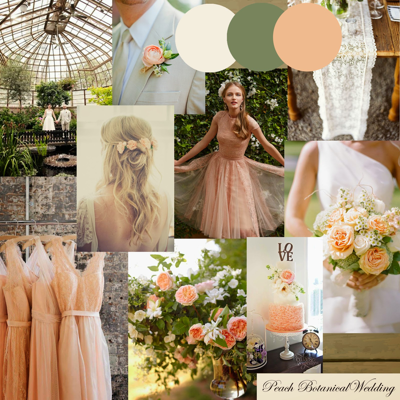 Knots and Kisses Wedding Stationery: Peach, Coral & Green Wedding ...