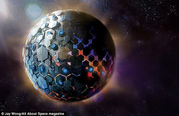 ¿Existe una estructura de una   civilización alienígena orbitando una estrella?