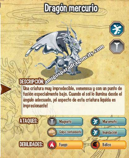 imagen de las caracteristicas del dragon mercurio