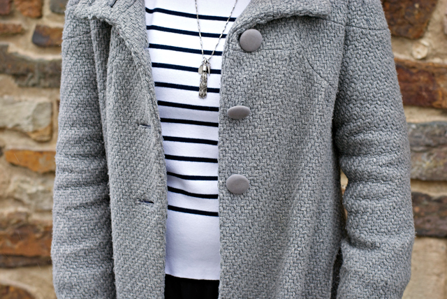 ootd outfit look french parisienne stripes nautical