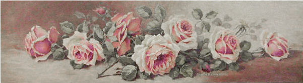 Вышивка крестом винтажная роза 28