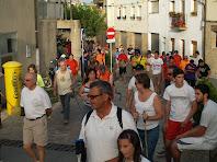 Iniciem la caminada seguint el carrer de l'Església cap a llevant