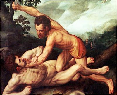 Caín matando a su hermano Abel