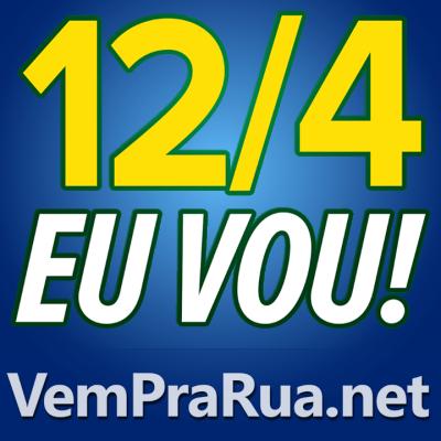 Foto avatar Vem Pra Rua 12-4 azul escuro para ajudar manifestação