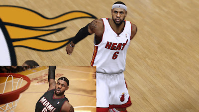NBA 2K14 LeBron James HD Cyberface Mod