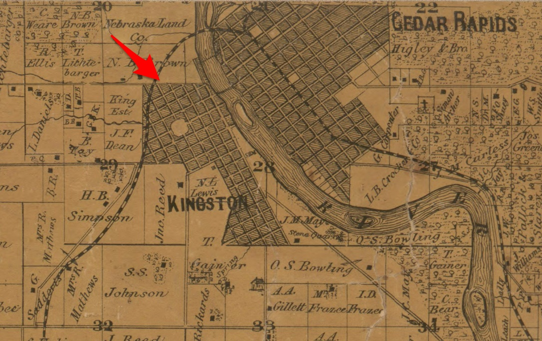 Ancestry Island Kingston Linn County Iowa Comparing 1868 1869
