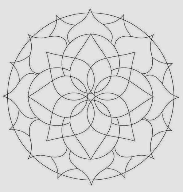 32 Grren Leaf Beginner Mandala Coloring Pages