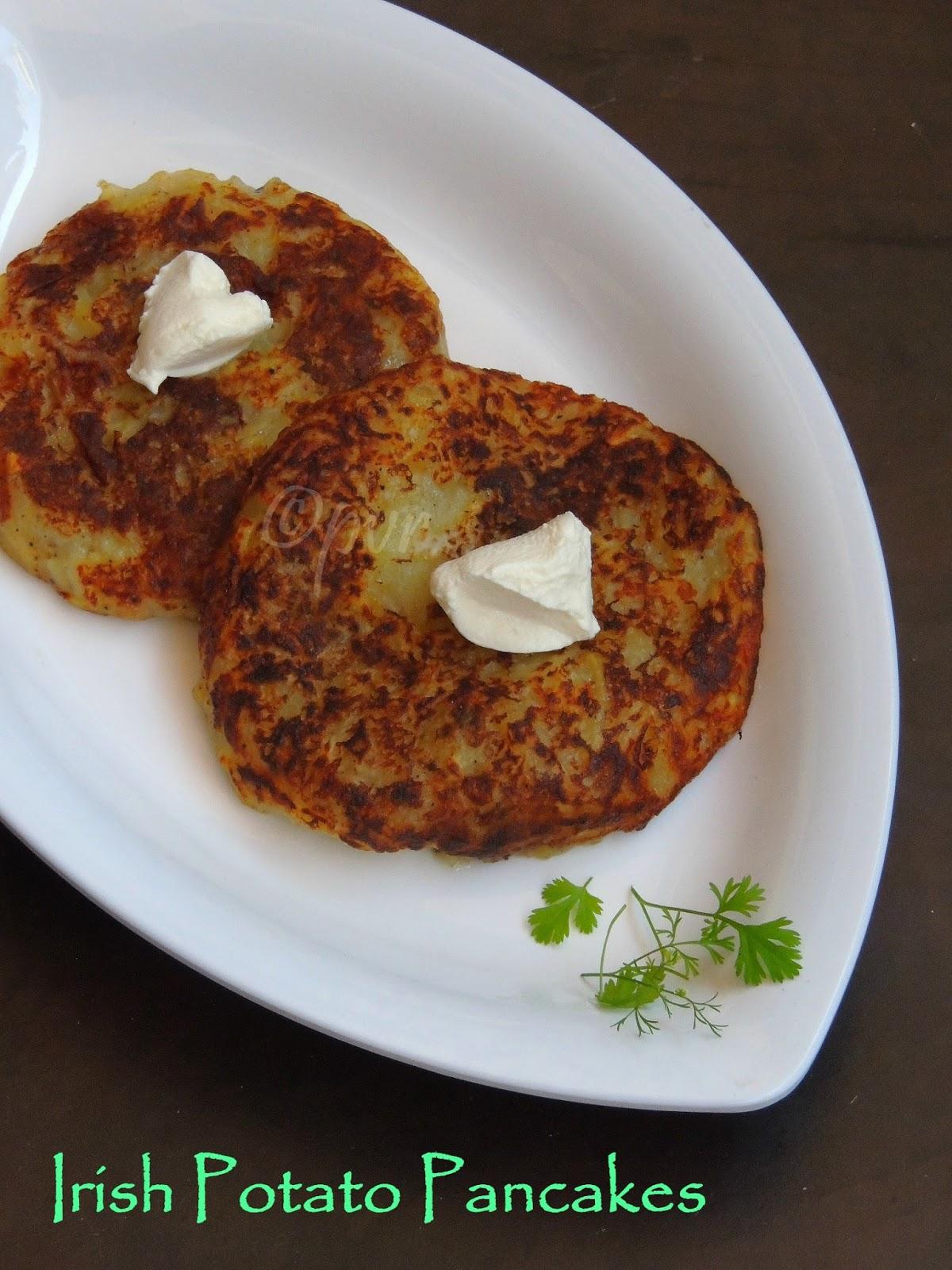 Priya's Versatile Recipes: Boxty - Irish Potato Pancakes