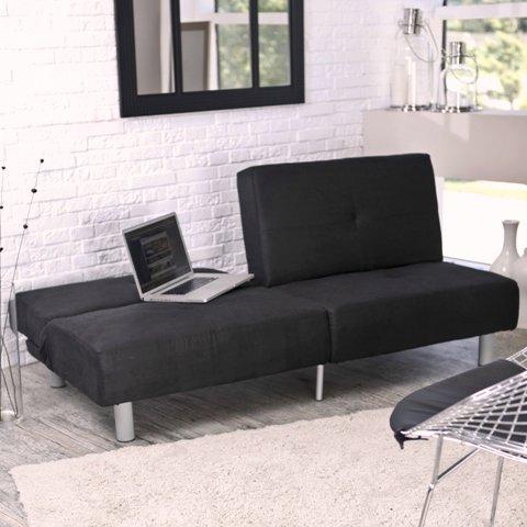 Modern Living Room Furniture Family Room Furniture Elite Microsuede Studio Lounger Convertible