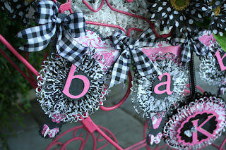 Black White Pink Baby Banner