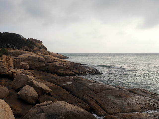 Rocks by the ocean on Cheung Chau Island, Hong Kong