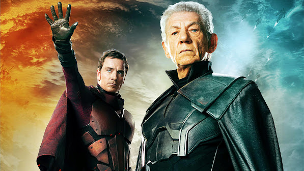 michael fassbender and ian mckellen as magneto in x men days of future past